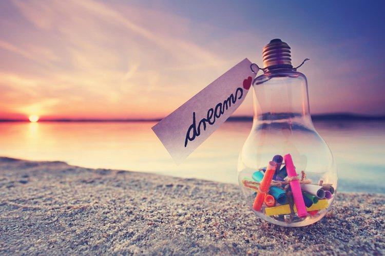 Dreams in a lightbulb bottle