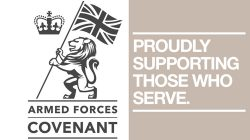 Proud to support the Armed Forces Covenant